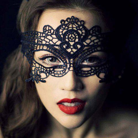 Fashion Fashionable Crown Shape Hollow Out Half-Face Lace Halloween Party Mask For Women