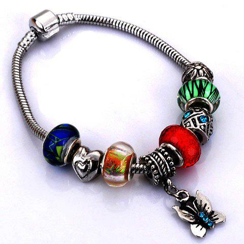 Fancy Flower Elephant Heart Butterfly Bead Bracelet - RANDOM COLOR PATTERN  Mobile