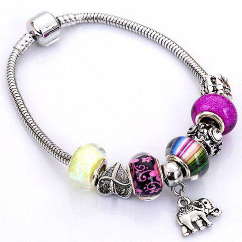Unique Flower Elephant Heart Butterfly Bead Bracelet - RANDOM COLOR PATTERN  Mobile