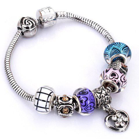 Outfits Flower Elephant Heart Butterfly Bead Bracelet - RANDOM COLOR PATTERN  Mobile