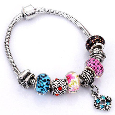 Discount Flower Elephant Heart Butterfly Bead Bracelet - RANDOM COLOR PATTERN  Mobile