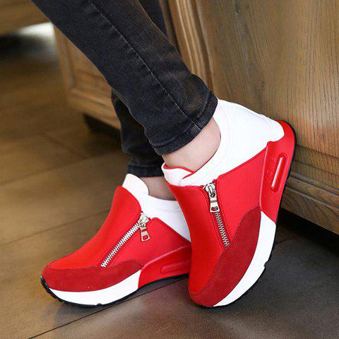 Outfits Stylish Zipper and Splicing Design Women's Athletic Shoes - 36 RED Mobile