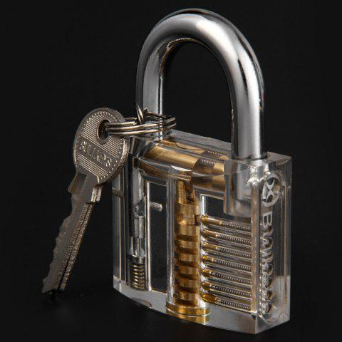 Trendy ZH - 0121 Transparent Practice Padlock Inside-view Pick for Locksmith