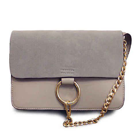 Shop Elegant Suede and Chain Design Women's Crossbody Bag