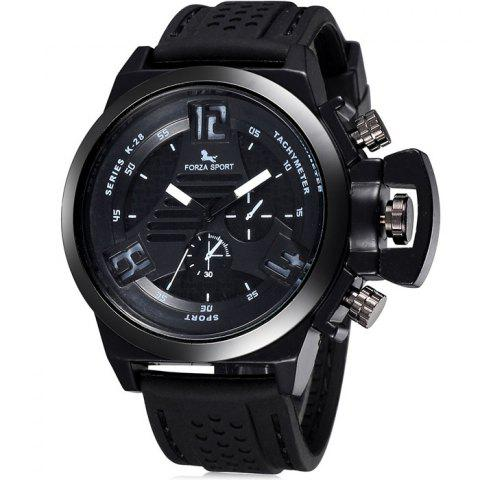 Sale FORZA SPORT 2497 Japan Quartz Watch with Decorative Sub-dials Luminous Pointers Silicone Band for Men - RED  Mobile