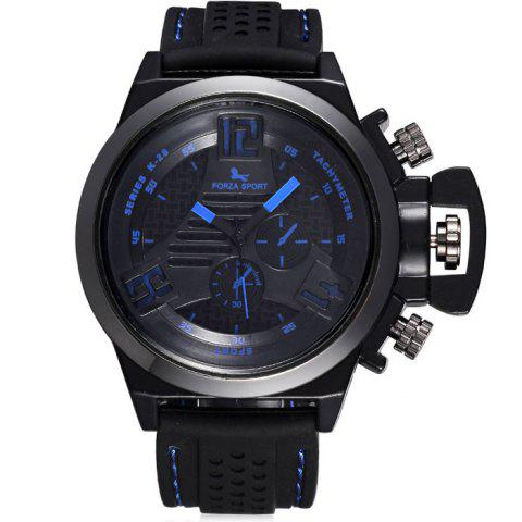 Cheap FORZA SPORT 2497 Japan Quartz Watch with Decorative Sub-dials Luminous Pointers Silicone Band for Men - BLUE  Mobile