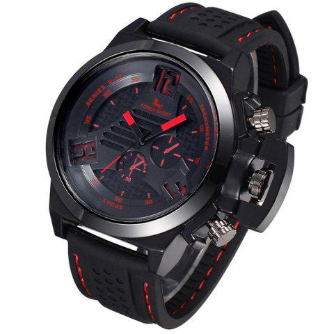 Sale FORZA SPORT 2497 Japan Quartz Watch with Decorative Sub-dials Luminous Pointers Silicone Band for Men - BLUE  Mobile