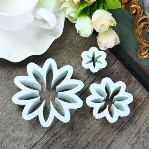 Store 3Pcs Marguerite Style DIY Cake Mould for Embossing Fondant Decoration