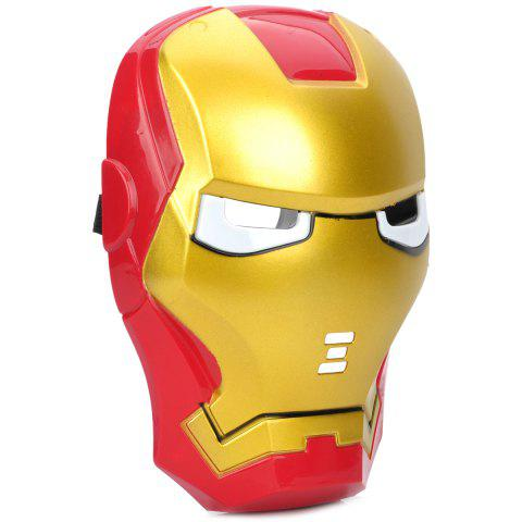 Best Cosplay Iron Man Mask with Blue Lite - Up Eyes Halloween Costumes - AS THE PICTURE  Mobile