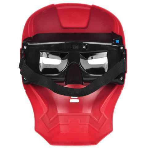 Latest Cosplay Iron Man Mask with Blue Lite - Up Eyes Halloween Costumes - AS THE PICTURE  Mobile