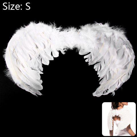 Unique Angel Wings with Elastic Straps for Christmas Costume Theme Parties - SIZE S WHITE Mobile