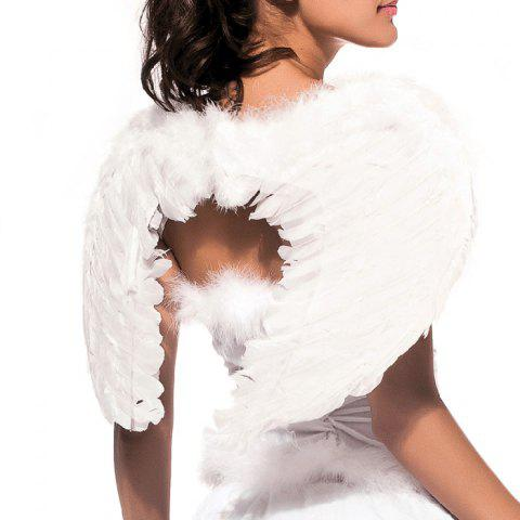 Best Angel Wings with Elastic Straps for Christmas Costume Theme Parties - SIZE S WHITE Mobile