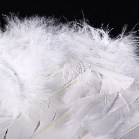 Chic Angel Wings with Elastic Straps for Christmas Costume Theme Parties - SIZE S WHITE Mobile