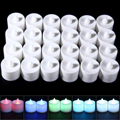 Buy 24PCS Creative LED Smokeless Candles Lamp with Colorful Nightlight