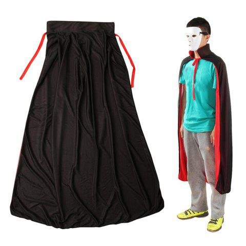 Fashion 140cm Halloween Standing Collar Sorcerer Costume with Double - Sided Vampires Adult Cloak