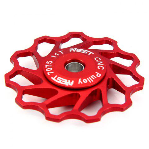 Latest AEST Bicycle Clino-axis 11T Rear Derailleur Pulley for Cycling - RED  Mobile