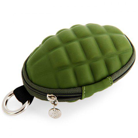 Shops Creative Grenade Shaped Zippered Key Bag Coin Pouch - ARMY GREEN  Mobile