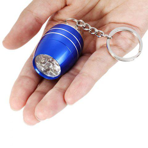 Affordable Cute Mini 6 LED Bright White Light Keychain Outdoor Camping Tool - BLUE  Mobile