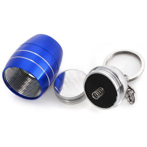 Chic Cute Mini 6 LED Bright White Light Keychain Outdoor Camping Tool - BLUE  Mobile