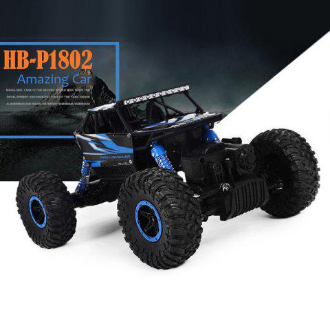 Fashion HB - P1802 HB-P1802 HBP1802 1:18 Scale 2.4G 4.8V 700MAH Double motor Four-wheel Drive Rally Car EU Plug - BLUE  Mobile