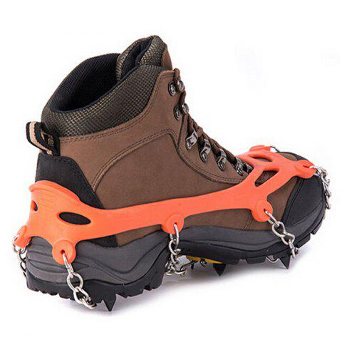 Fashion AOTU Anti-slip Mountaineering Climbing Crampons Boots Chain with 8 Teeth Ice Cleats or Crampons -   Mobile