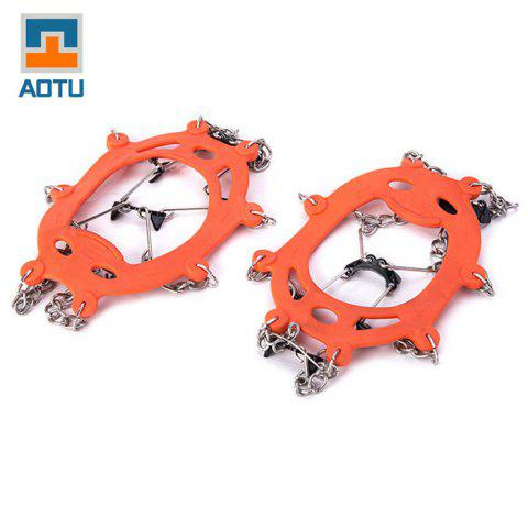 Fancy AOTU Anti-slip Mountaineering Climbing Crampons Boots Chain with 8 Teeth Ice Cleats or Crampons -   Mobile