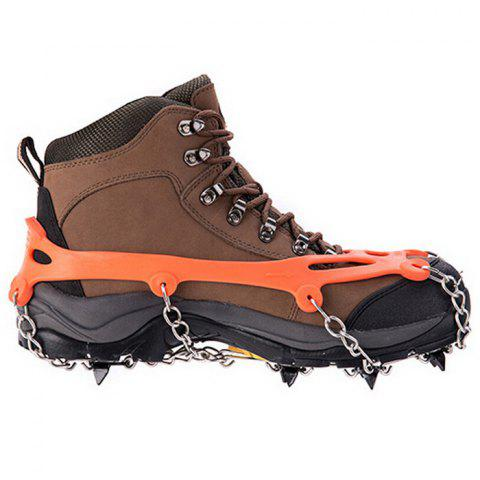 Discount AOTU Anti-slip Mountaineering Climbing Crampons Boots Chain with 8 Teeth Ice Cleats or Crampons