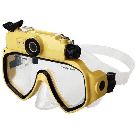 Outfit 2 in 1 Design Diving Glasses Mask + Underwater Camera 720P for 30m Water Depth - YELLOW  Mobile