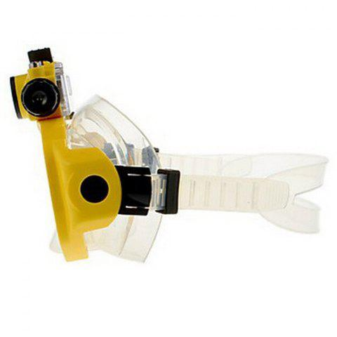 Best 2 in 1 Design Diving Glasses Mask + Underwater Camera 720P for 30m Water Depth - YELLOW  Mobile
