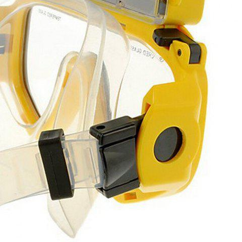 Shops 2 in 1 Design Diving Glasses Mask + Underwater Camera 720P for 30m Water Depth - YELLOW  Mobile