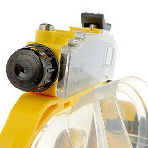 Affordable 2 in 1 Design Diving Glasses Mask + Underwater Camera 720P for 30m Water Depth - YELLOW  Mobile