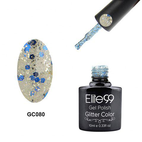 Elite99 Super Star Diamond Glitter Nail Gel Polish Soak Off UV LED Nail Art 10ml - Off-white
