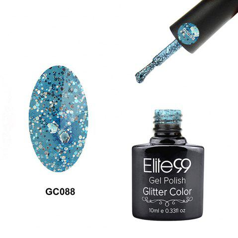 Elite99 Super Star Diamond Glitter Nail Gel Polish Soak Off UV LED Nail Art 10ml - Azure - 7
