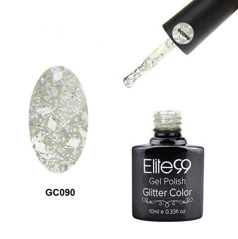Elite99 Super Star Diamond Glitter Nail Gel Polish Soak Off UV LED Nail Art 10ml - Floral White