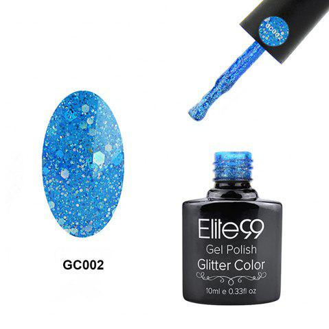 Fancy Elite99 Soak Off Diamond Glitter Polish UV LED Soak Off Gel Nail Lacquer 10ml - BLUISH GREEN  Mobile