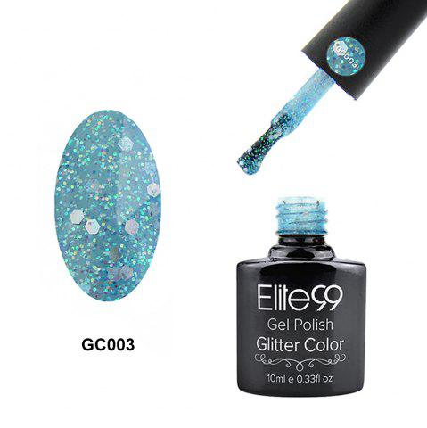 Elite99 Soak Off Diamond Glitter Polish UV LED Soak Off Gel Nail Lacquer 10ml - Pinkish Blue - 4xl