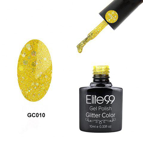 Online Elite99 Soak Off Diamond Glitter Polish UV LED Soak Off Gel Nail Lacquer 10ml - YELLOW  Mobile