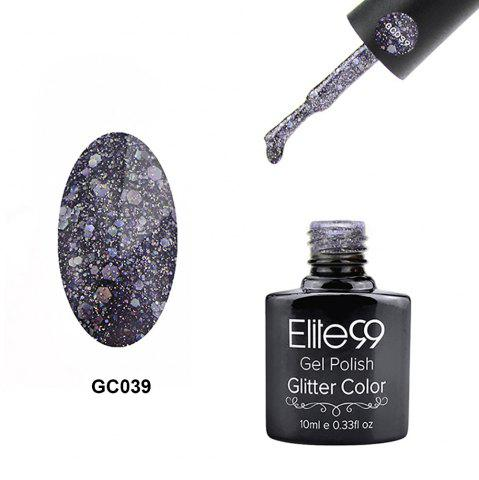 Elite99 Glitter Color Gel Soak Off Nail Polish UV LED Diamond Glitter Shimmer Effect 10ml - Stone Blue - 4xl