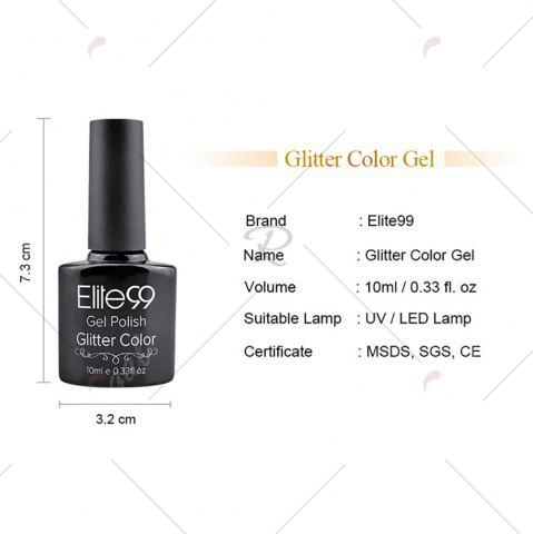 Best Elite99 Super Star Diamond Glitter Nail Gel Polish Soak Off UV LED Nail Art 10ml - WHITE AND BLACK  Mobile