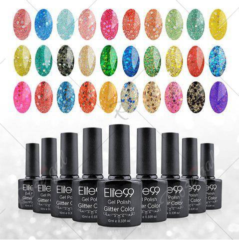 Unique Elite99 Soak Off Diamond Glitter Polish UV LED Soak Off Gel Nail Lacquer 10ml - EARTHY  Mobile
