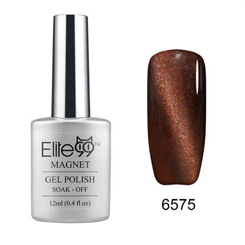 Elite99 Soak Off Cat Eye 3D Nail Tip UV Gel Polish Nail Art Design 12ml - Coffee