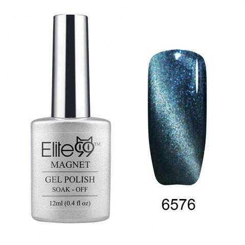 Elite99 Soak Off Cat Eye 3D Nail Tip UV Gel Polish Nail Art Design 12ml - Shimmer Grey Teal