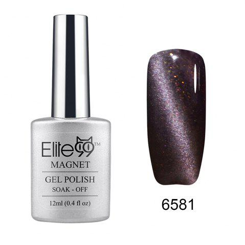 Cheap Elite99 Soak Off Cat Eye 3D Nail Tip UV Gel Polish Nail Art Design 12ml SHIMMER BLACK CURRANT