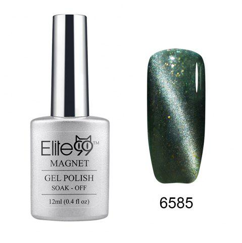 Elite99 Soak Off Cat Eye 3D Nail Tip UV Gel Polish Nail Art Design 12ml - Glitter Greyish-green