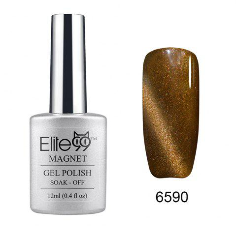 Elite99 Soak Off Cat Eye 3D Nail Tip UV Gel Polish Nail Art Design 12ml - Shimmer Drab