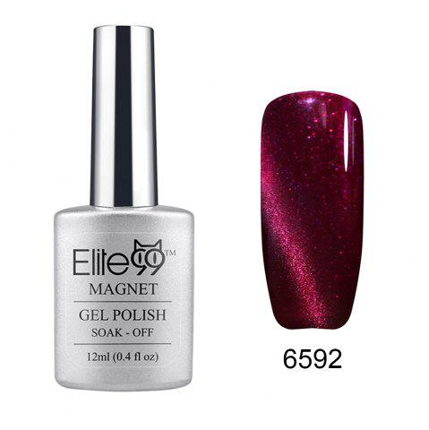Shop Elite99 Soak Off Cat Eye 3D Nail Tip UV Gel Polish Nail Art Design 12ml - SHIMMER RED VIOLET  Mobile