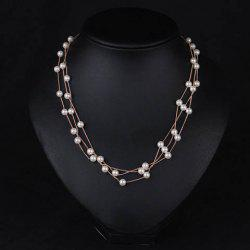 Luxury Layered Faux Pearl Necklace For Women -