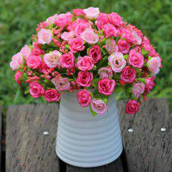 A Bouquet of Delicate Living Room Decoration Diamond Shape Artificial Rose (No Vase) - PINK