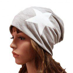 Chic Big Five-Pointed Star Pattern Beanie For Women