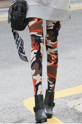 Fashionable Camouflage Print Skinny Leggings For Women -
